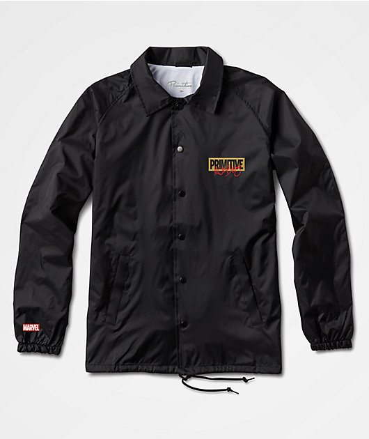 Marvel x Moebius by Primitive Iron Man Black Coaches Jacket