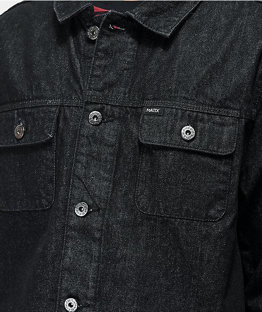 Matix Crew Trucker chaqueta de mezclilla negra