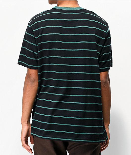 Matix Gordie Black & Green Stripe T-Shirt