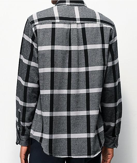 Matix Porto camisa de franela negra y gris