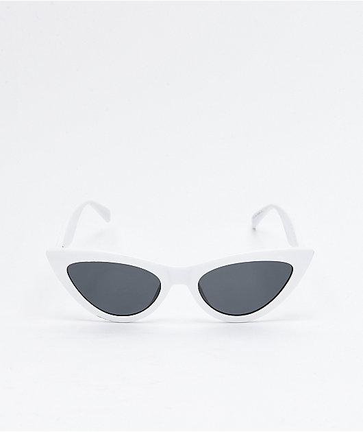 Mckenna Cateye White Sunglasses