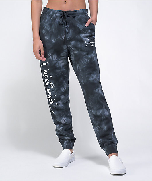 Melodie I Need Space Black Tie Dye Sweatpants