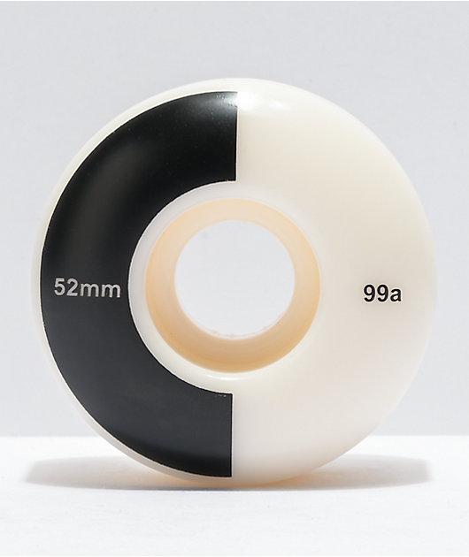 Mercer 52mm 99a Black & White Skateboard Wheels