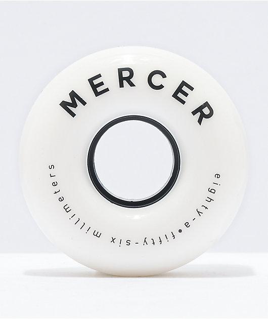 Mercer White 56mm 80a Skateboard Wheels