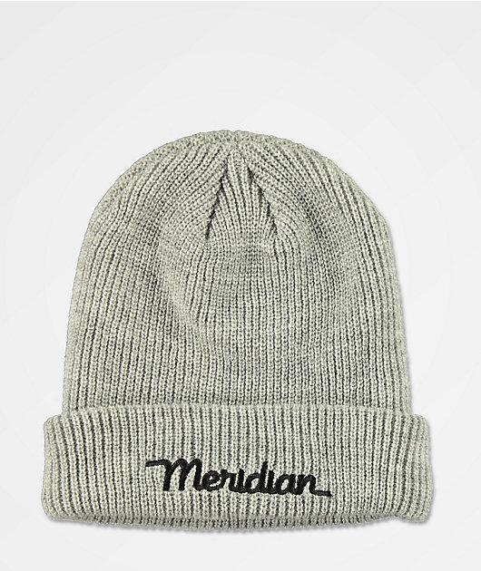Meridian Script Logo Grey Beanie