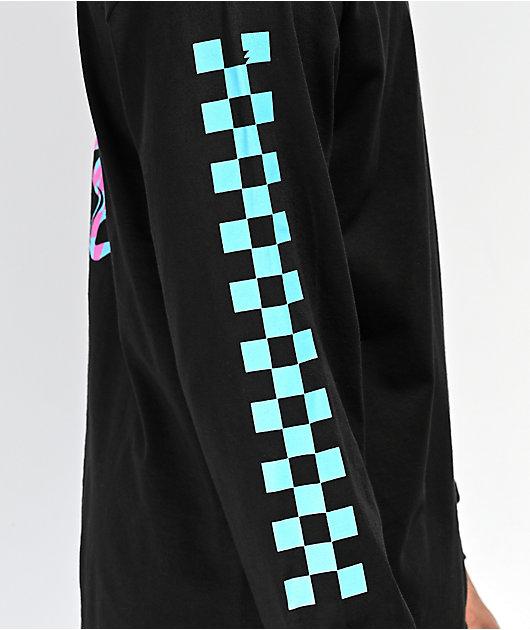 Meridian Skateboards Snakes Hang Out Black Long Sleeve T-Shirt