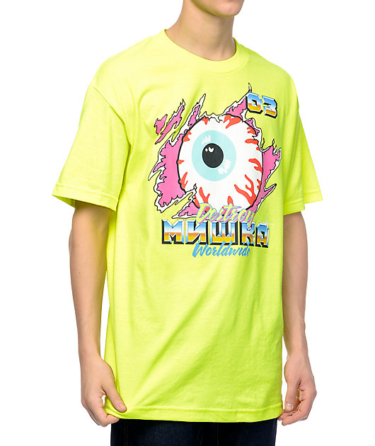 Mishka Demolition Derby Neon Green T-Shirt