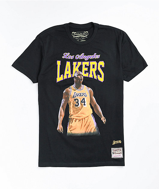Mitchell & Ness x LA Lakers Shaq Coutside Black T-Shirt