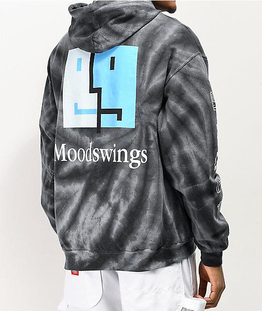 Moodswings 56k Modem sudadera con capucha negra con cremallera