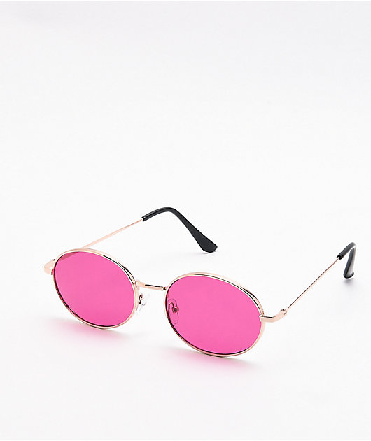 Motohead Purple & Gold Sunglasses
