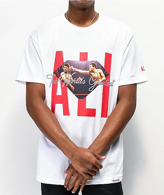 Muhammad Ali x Diamond Supply Co. Ali Sign White T-Shirt