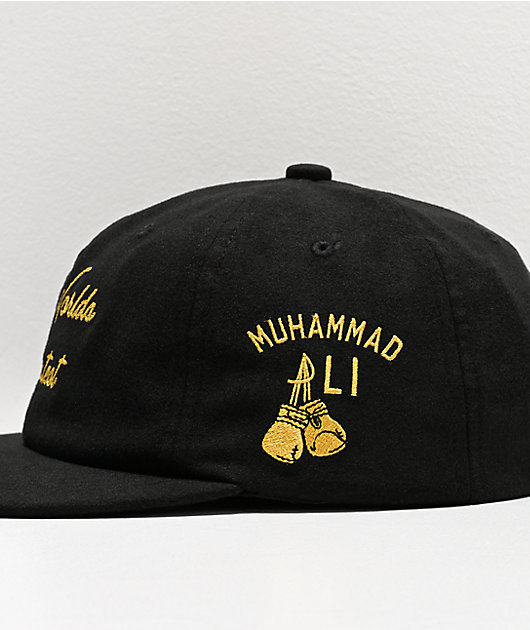 Muhammad Ali x Diamond Supply Co. The Worlds Greatest Black Strapback Hat