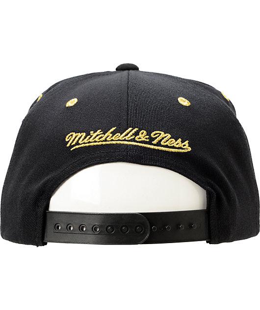 Nba Mitchell And Ness La Lakers Black Gold Snapback Hat Zumiez