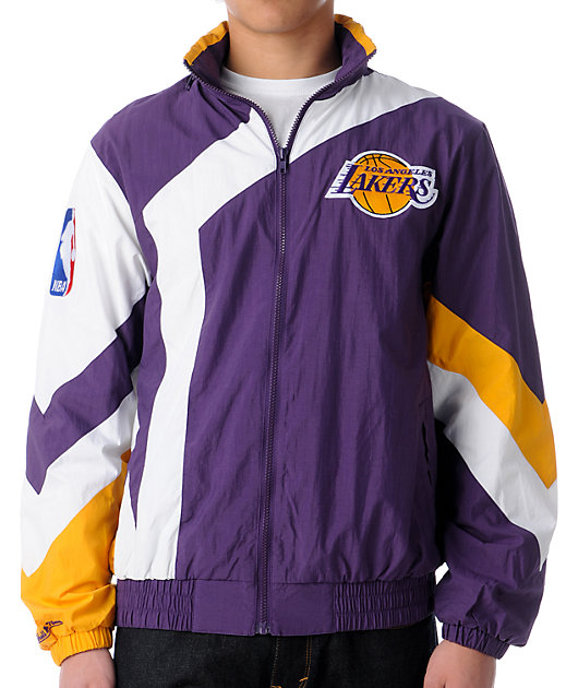 Nba Mitchell And Ness Vintage La Lakers Windbreaker Zumiez
