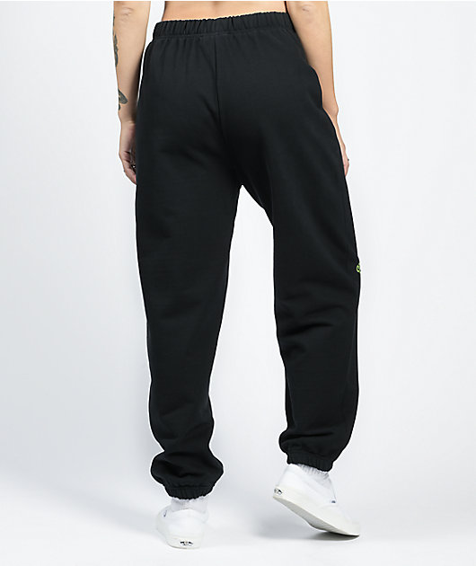 NEW girl ORDER Double Dragon Black Jogger Sweatpants