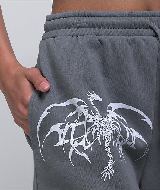 NEW girl ORDER Hardcore For Life Grey Sweat Shorts