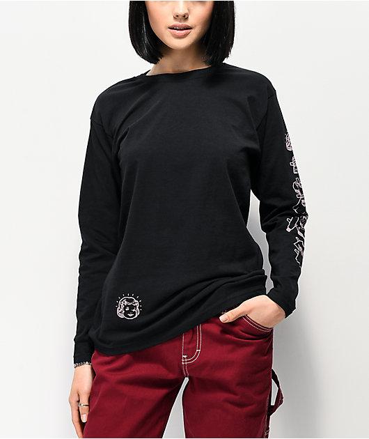 NEW girl ORDER Nothing To Wear camiseta negra de manga larga