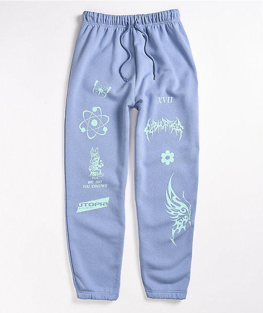 NEW girl ORDER Pale Blue Jogger Sweatpants