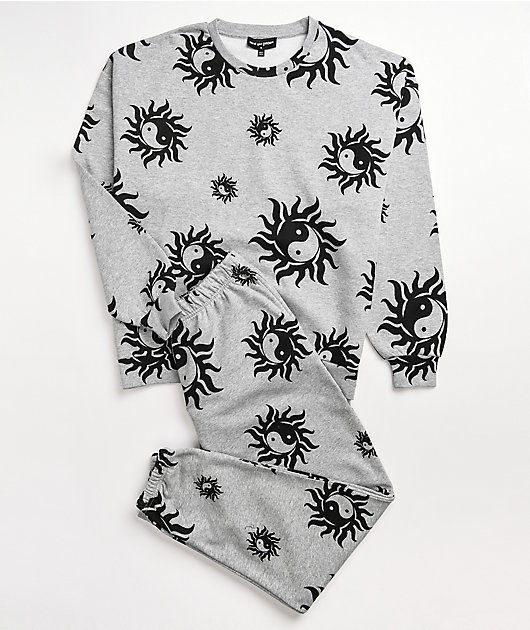 NEW girl ORDER Yin Yang Grey Crewneck Sweatshirt
