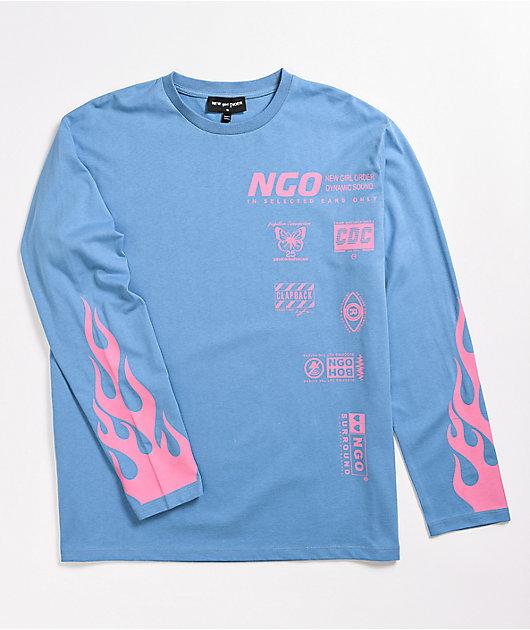 NGOrder Blue Flame Long Sleeve T-Shirt