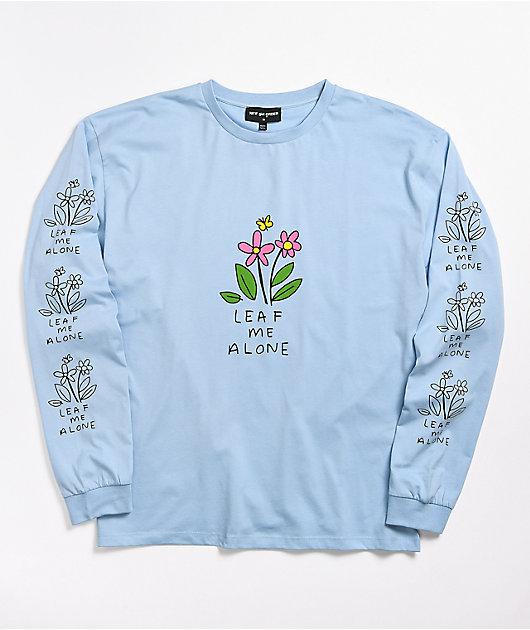 NGOrder Leaf Me Alone Blue Long Sleeve T-Shirt
