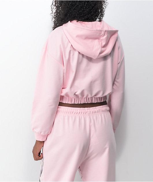 NGOrder Manga Anime Pink Crop Hoodie