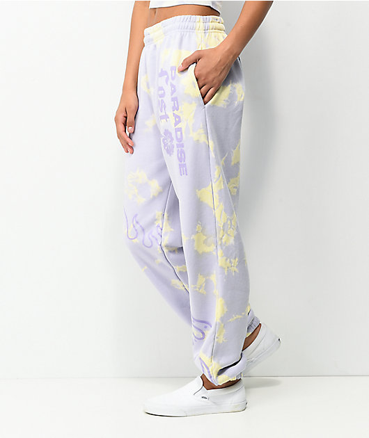 NGOrder Paradise Lost Purple Tie Dye Jogger Sweatpants