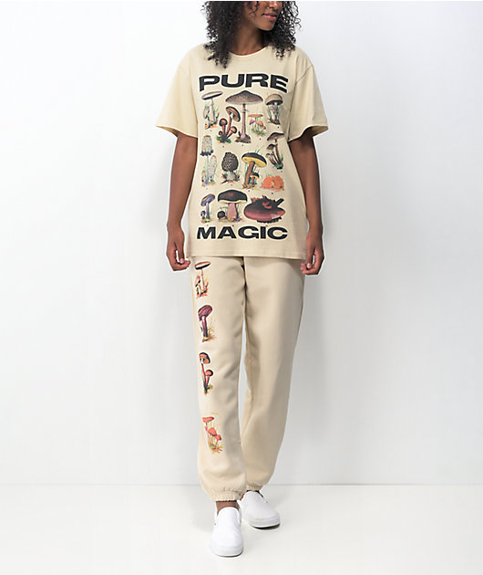 NGOrder Pure Magic Shrooms Cream Jogger Sweatpants