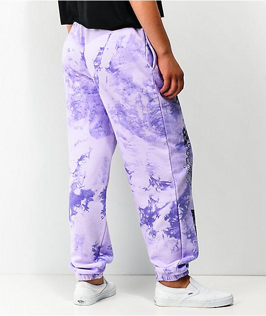 NGOrder Sweetheart Purple Tie Dye Sweatpants