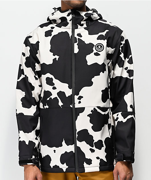 Neff Bullhonky Railyard Black & White 10K Softshell Jacket