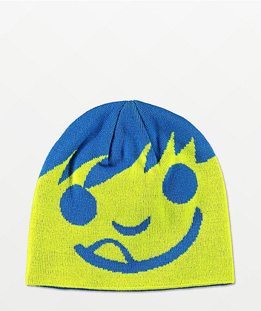 Neff Happy gorro lima y azul