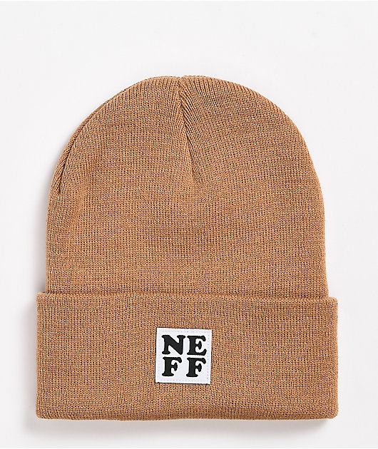 Neff Lawrence Camel Fold Beanie