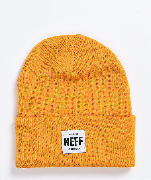 Neff Lawrence Patch Gold Beanie