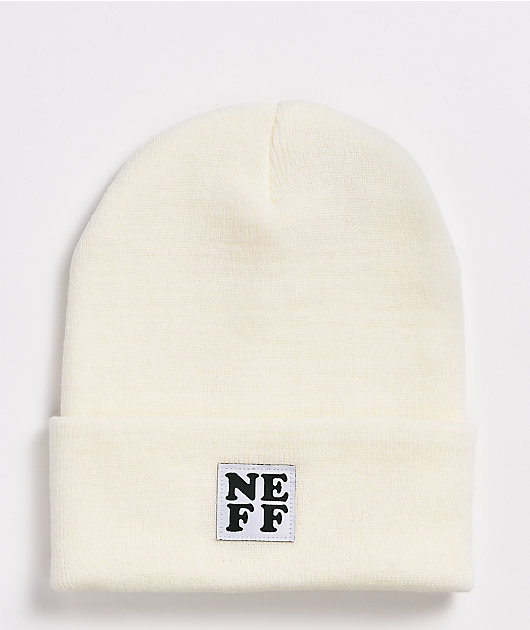 Neff Lawrence White Fold Beanie