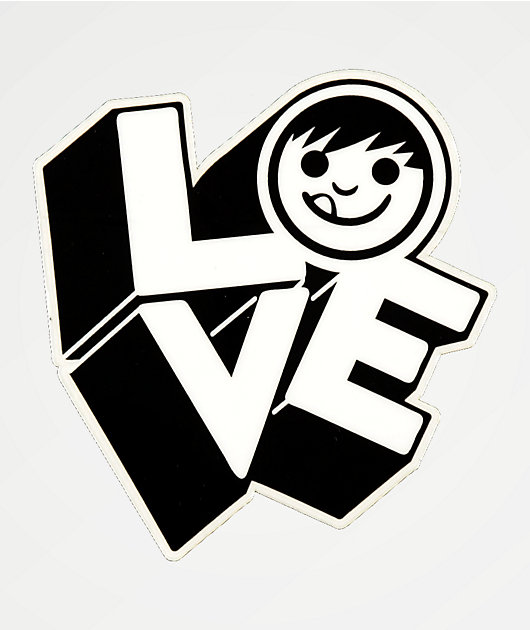 Neff Love Black & White Sticker