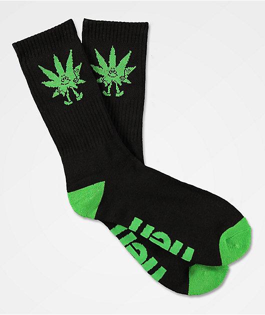 Neff Promo Peace Weed Black Crew Socks