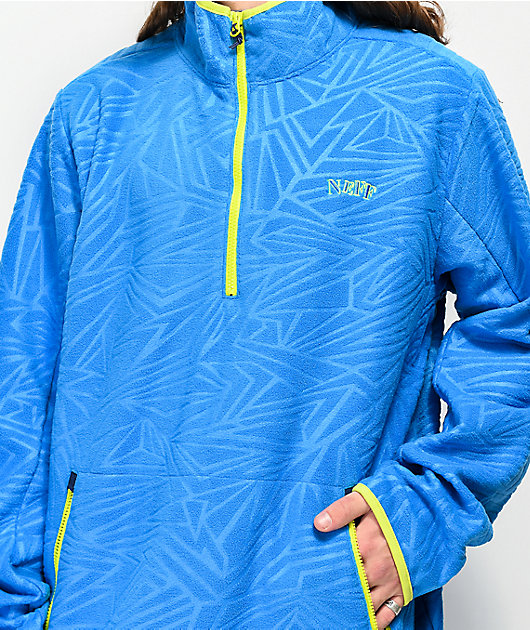 Neff Throwback Blue Tech Fleece Jacket