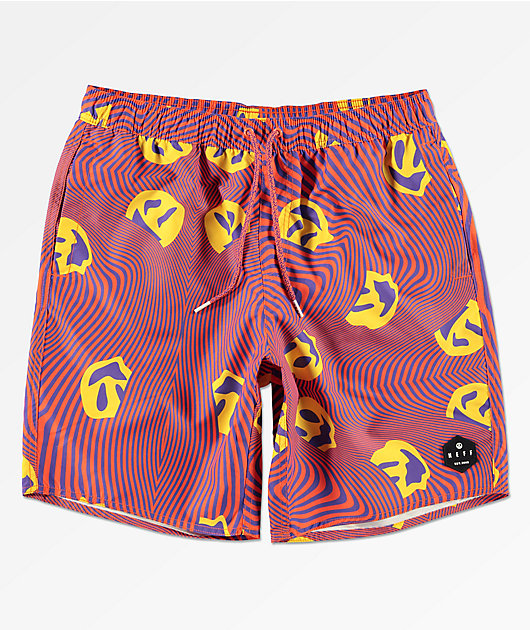 Neff Warped Smile Red Board Shorts