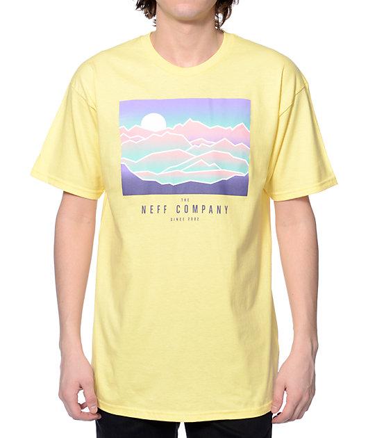 Neff Wilderness Light Yellow T-Shirt