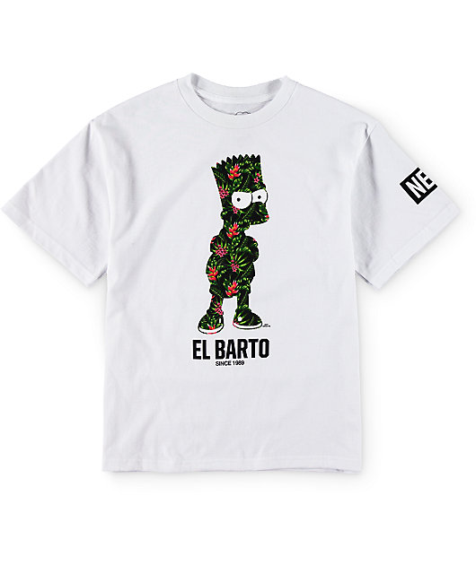 neff x the simpsons boys floral el barto t shirt