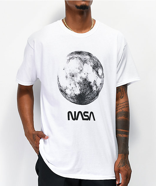 Neon Riot x NASA Full Moon White T-Shirt
