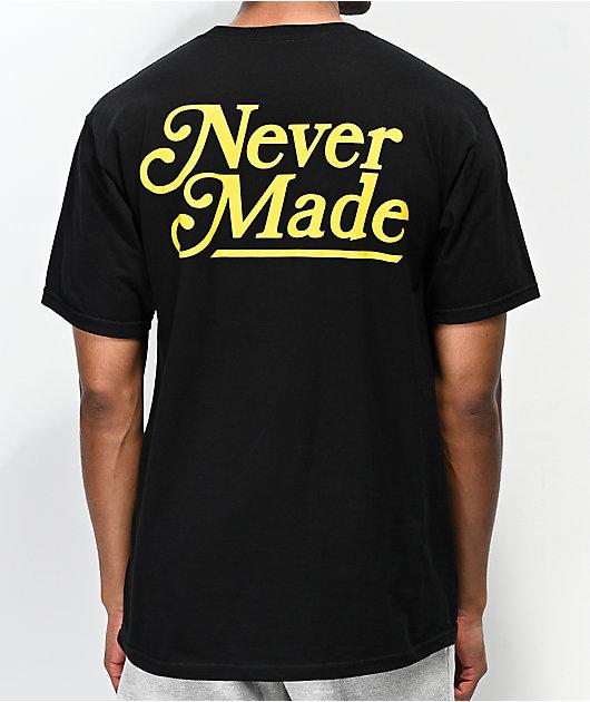 Never Made Booker Font camiseta negra