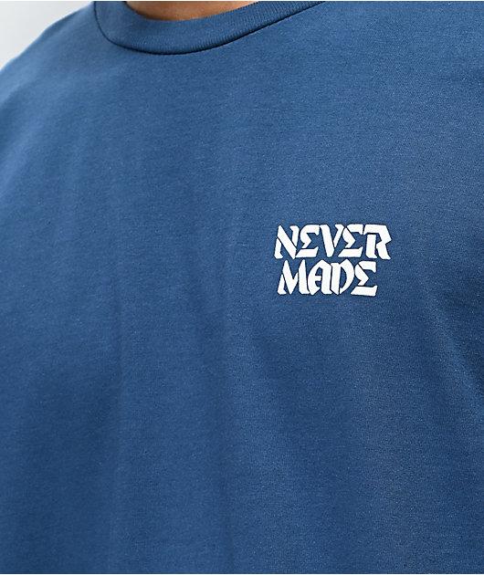 Never Made Rose Heart Blue T-Shirt