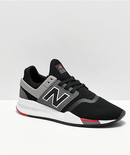 Mirar furtivamente Disfrazado Mount Bank  New Balance Lifestyle 247 V2 Black, Grey & White Shoes | Zumiez