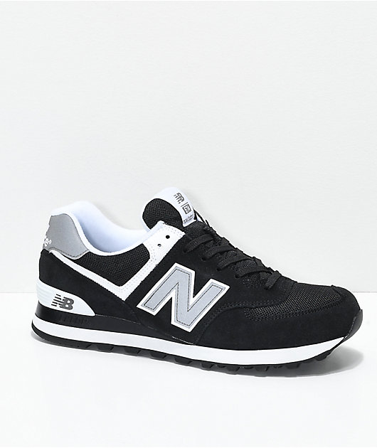 Feudal en lugar Comercio  New Balance Lifestyle 574 Black & White Shoes | Zumiez