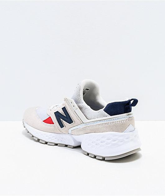 New Balance Lifestyle 574 Sport Nimbus Cloud and White Shoes