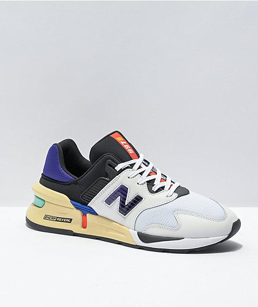 New Balance Lifestyle 997 Sport Munsell White & Deep Blue Shoes