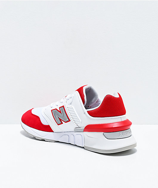 New Balance Lifestyle 997 Sport Team Red & White Shoes