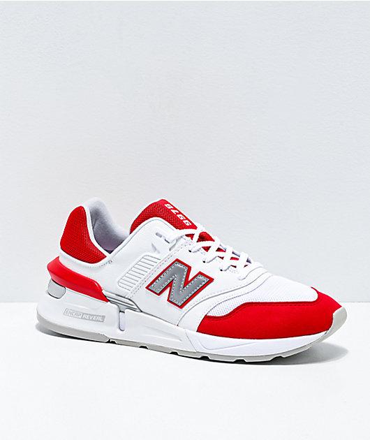 autopista constante Elástico  New Balance Lifestyle 997 Sport Team zapatos rojos y blancos   Zumiez