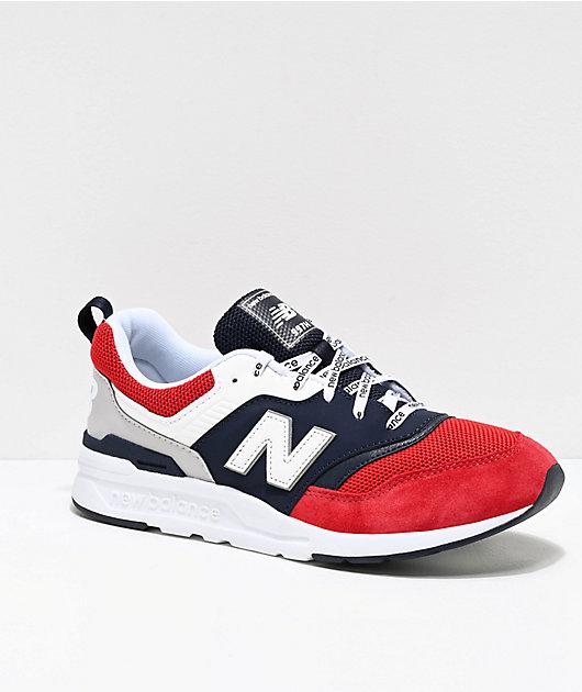 Distribución difícil estar  New Balance Lifestyle 997H zapatos azules, blancos y rojos   Zumiez